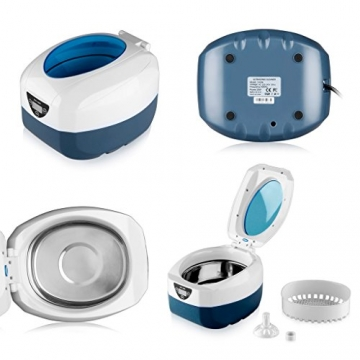 Digitale Display Ultraschall Reiniger Reinigungsgerät Edelstahltank Cleaner mit Korb für zuhause 750ML -